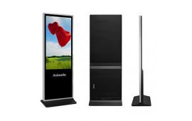 Android LCD digital signage - 75inch free standing Android LCD digital signage